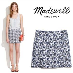 Madewell Blue Bud Floral Mini skirt